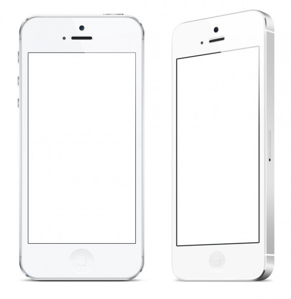 white iPhone white web unique ui elements ui stylish side set quality psd original new modern mockup iphone 5 iphone interface hi-res HD front fresh free download free elements download detailed design creative clean angled