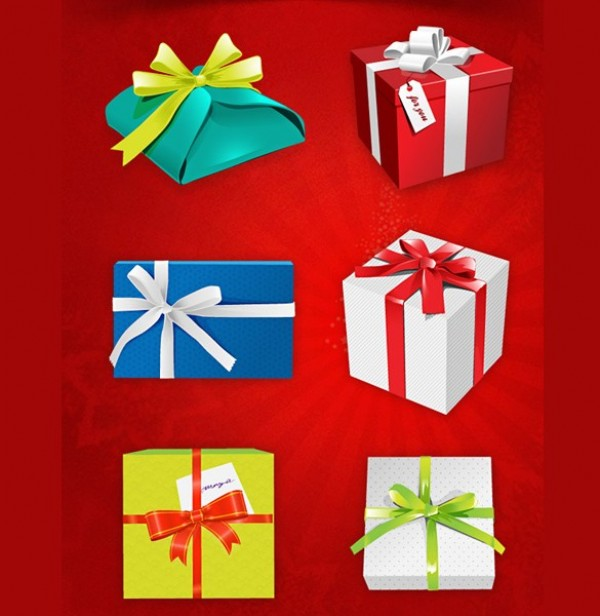 6 holiday gift wrapped boxes set psd welovesolo wrapped web unique ui elements ui stylish set quality psd present original new modern interface holiday negle Image collections