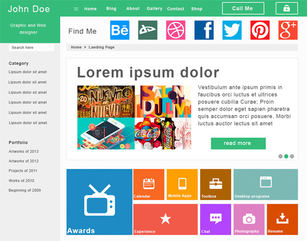website web unique ui elements ui template stylish social icons quality psd original new navigation modern metro menu landing page interface homepage hi-res HD fresh free download free flat elements download detailed design creative colorful clean