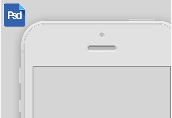 detailed white iphone 5 mockup template psd welovesolo