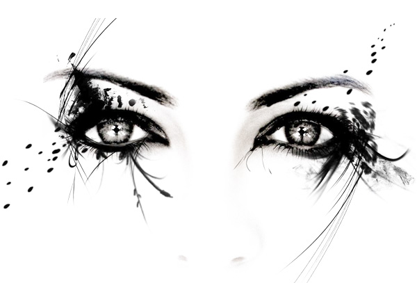 Exotic Woman's Eyes Abstract Graphic - WeLoveSoLo