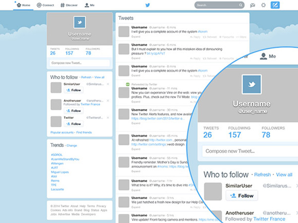 ui elements ui twitter page twitter template remake redesigned redesign page metro free download free flat