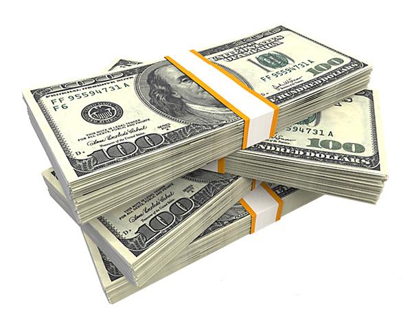 Stack Of Money 100 Dollars Bill : Stack of hundred dollar us bills money welovesolo