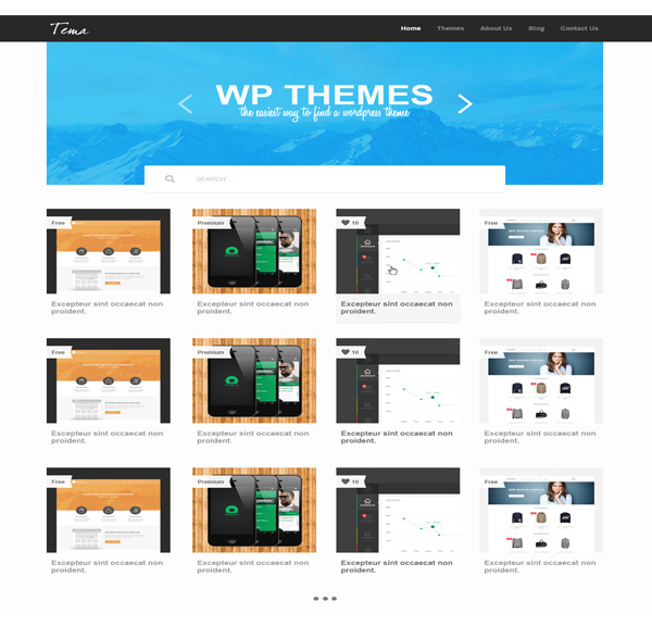 gallery theme psd website template welovesolo. Black Bedroom Furniture Sets. Home Design Ideas