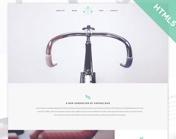 Minimal Flat CSS Coded Website Template - WeLoveSoLo