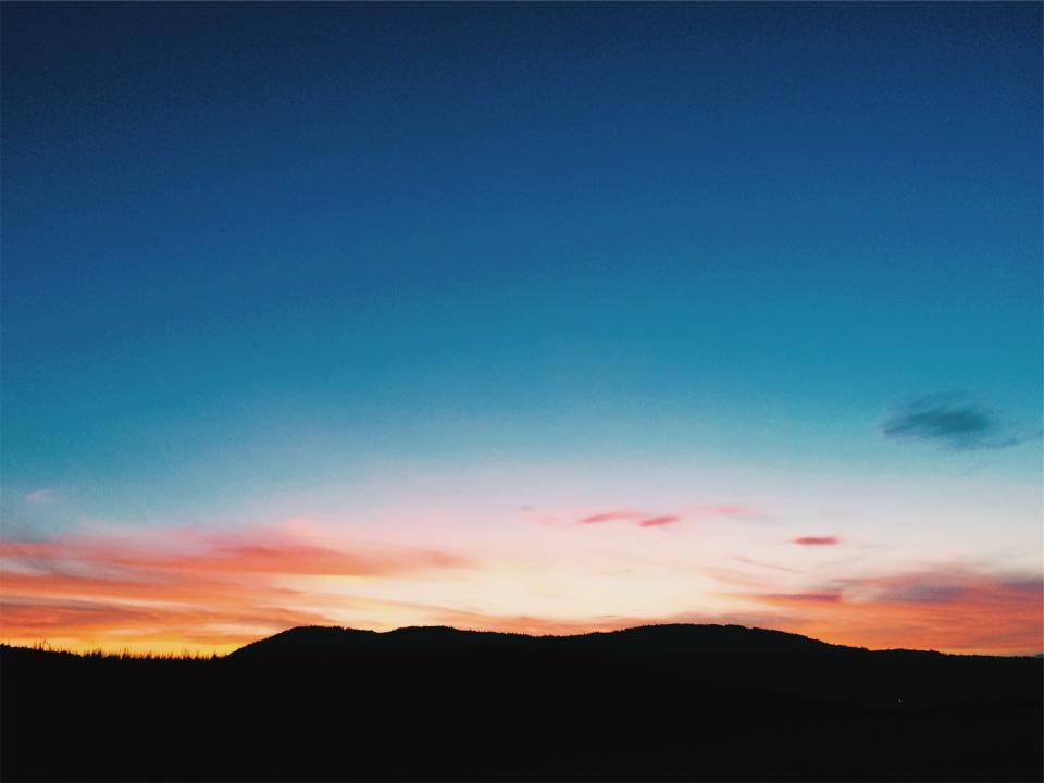 sunset sky silhouette Blue Sunset Backgrounds
