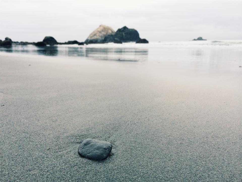 water shore sand rocks beach