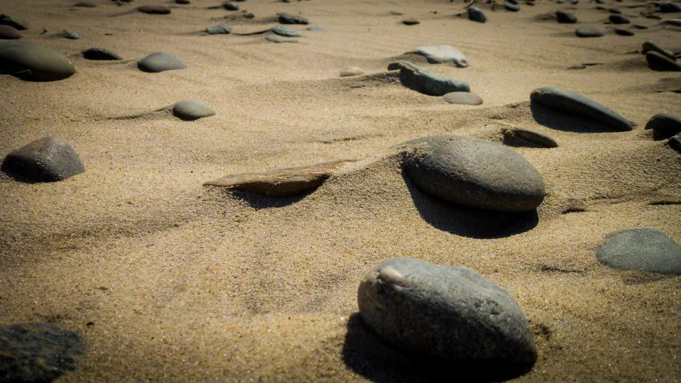 sand rocks beach