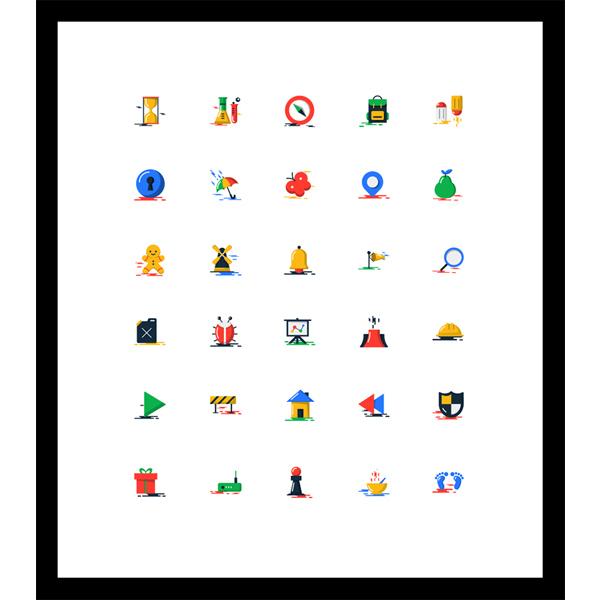 set pack icons flat icons flat blobs icons blob