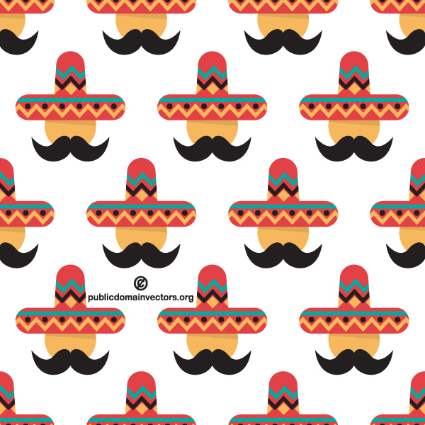 Mexican Man Colorful Sombrero Pattern - WeLoveSoLo 7074533383d