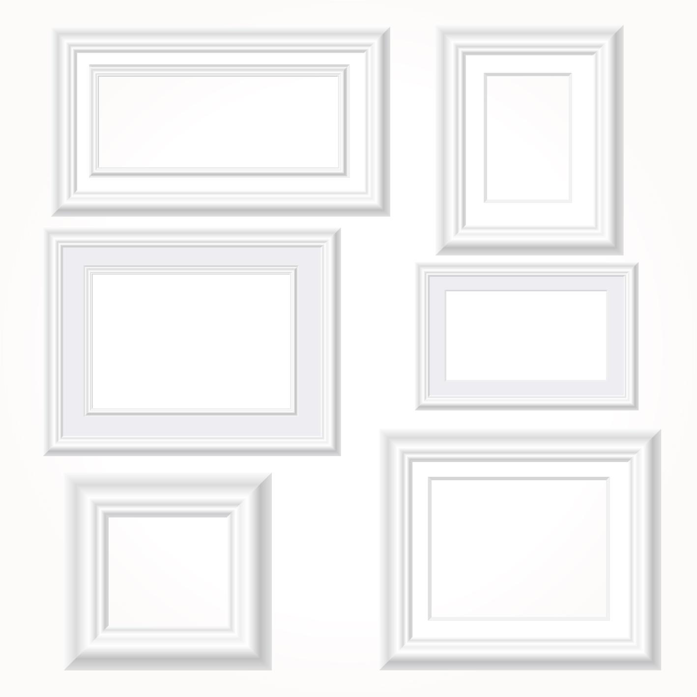 8291237bf89 White photo frames vector set - WeLoveSoLo