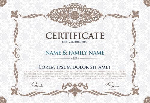 Certificate template with retro frame vector 05 welovesolo certificate template with retro frame vector 05 yadclub Image collections
