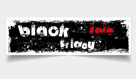 sale grunge friday Black friday black banner