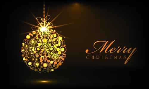 golden christmas baubles background 2015