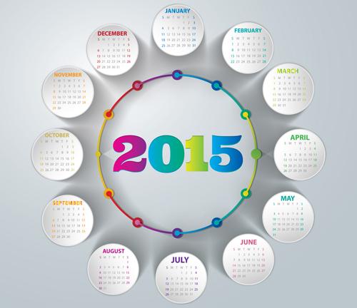 Round Calendar Design : Young girl woman welovesolo