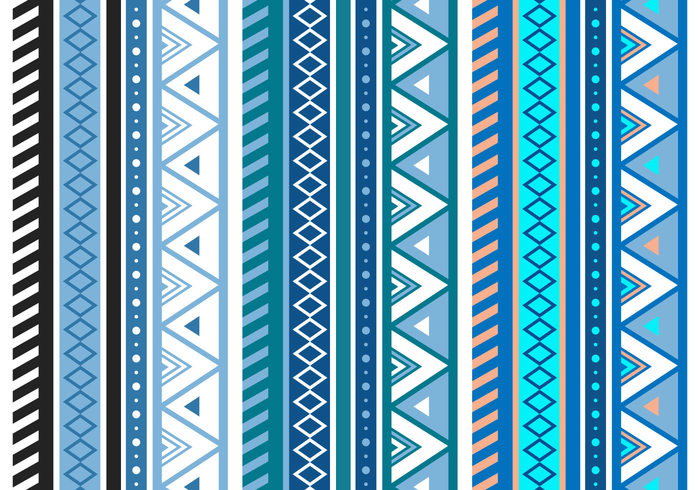 free blue aztec geometric seamless vector pattern 139282 welovesolo