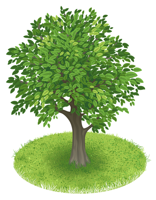 creative green tree design vector graphics 01 welovesolo