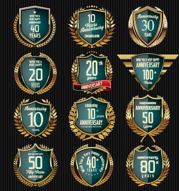 laurel wreath glass badges