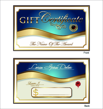 golden gold gift certificate