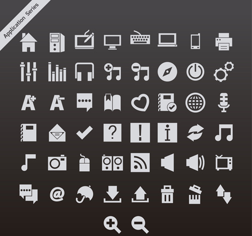 Vector Icon series icons icon gray application