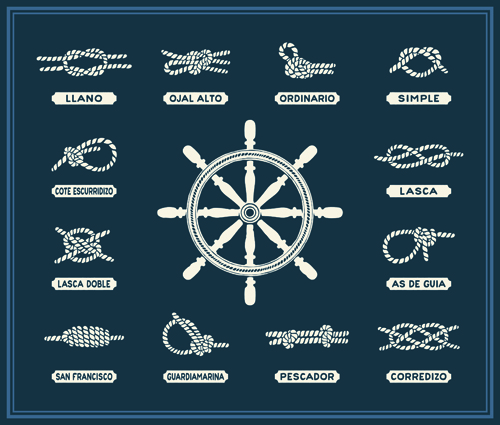nautical material hand-draw hand drawn elements element