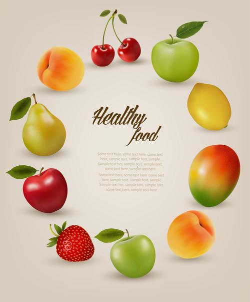 juicy fruit frame background