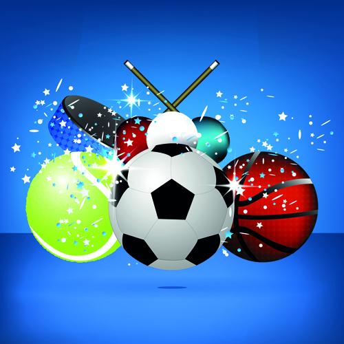 Sports Ball Vector Background Art