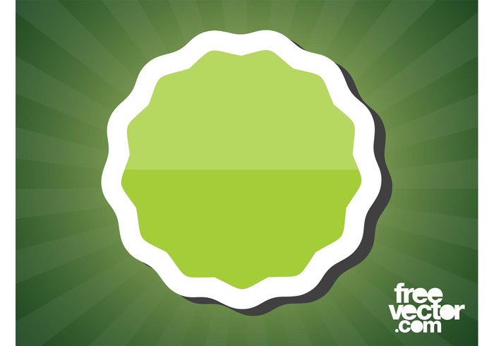 Green sticker vector welovesolo