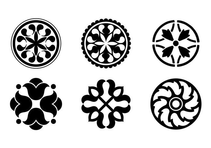 vector ornaments floral ornaments design ornaments circular ornaments circular designs