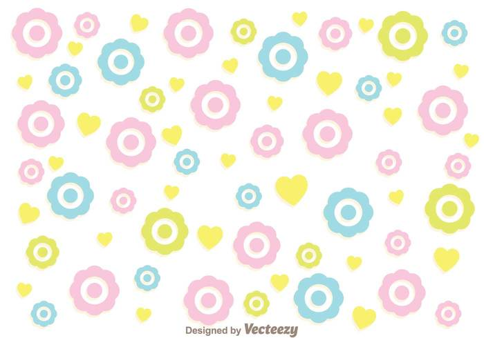 colorful flowers girly pattern vector 107962 welovesolo