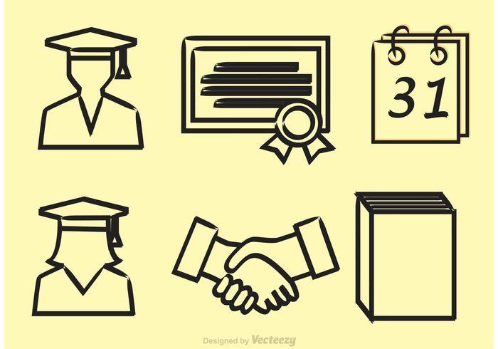 university study student school outline learning high school grad handshake hand shake hand graduation Graduate education college grad college certificate book