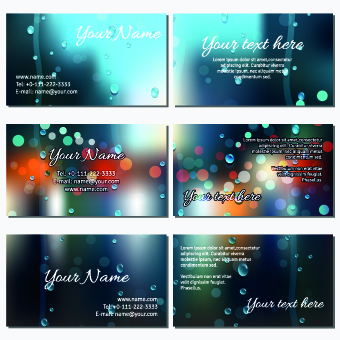 Autumn rain style business card vector 01 welovesolo reheart Choice Image