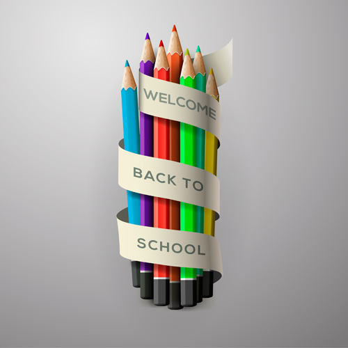 supplies school Creative background creative background