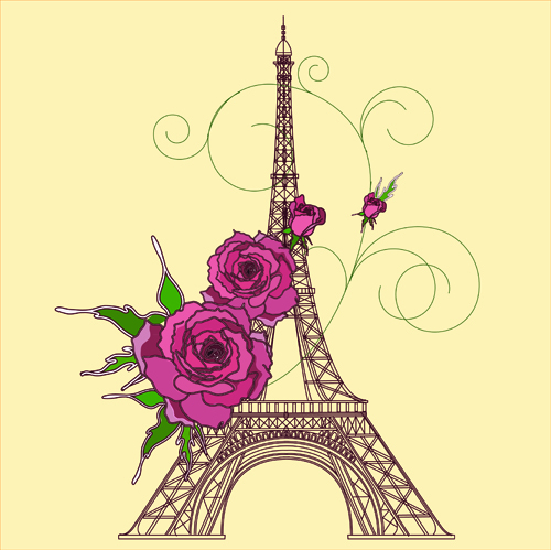 Vintage Eiffel Tower Background