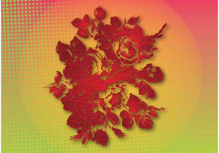 thorn season Rosebud rose romance pop art plant petal nature love leaf Imagery illustration garden drawing