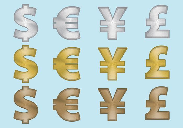 Aluminum Currency Symbols 112937 Welovesolo