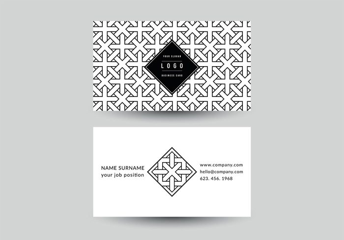 Free geometric business card vector template 109267 welovesolo reheart Images