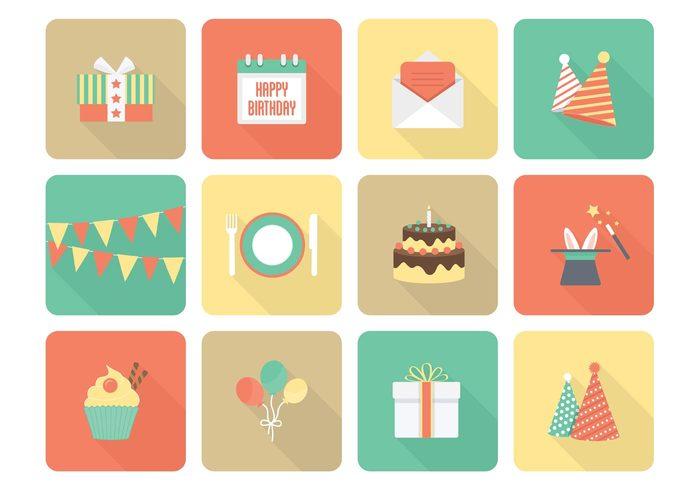 Free Vector Birthday Flat Icons 143552 WeLoveSoLo