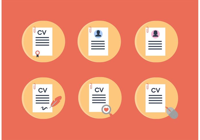 Curriculum Vitae Vector Icons Welovesolo