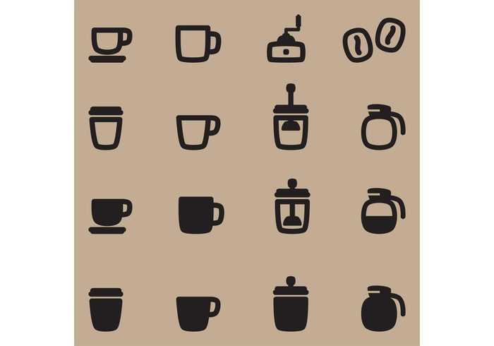 sugar restaurant pot mug morning menu icons icon hot drink cup coffee shop coffee icon coffee caffeine cafe breakfast beverage beans