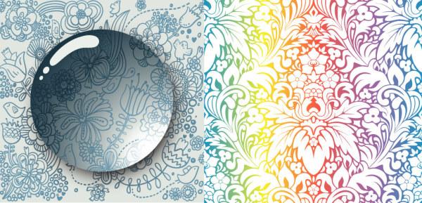 water droplets pattern fashion European-style elegant beads background