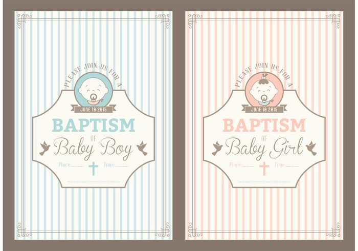 Free retro christening invitation vector cards 149104 welovesolo vintage vector template symbol shower retro religion people pattern party object newborn little layout invite invitation stopboris Image collections