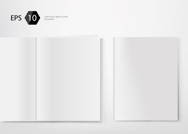 set of album and magazine template blank page vector 03 welovesolo