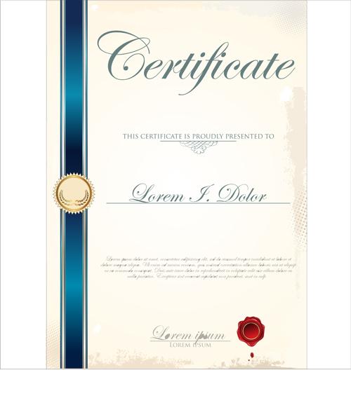 Vector Certificate template 03 – Creative Certificate Designs