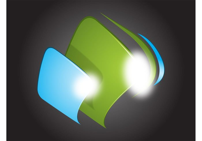 waves technology shine shadow reflection rectangle modern line gradient data curved computers company branding