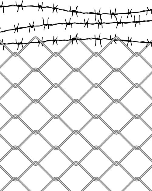 Cartoon chain fence