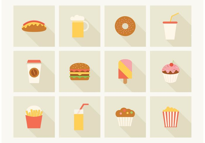 Free Fast Food Vector Icons 131456 Welovesolo