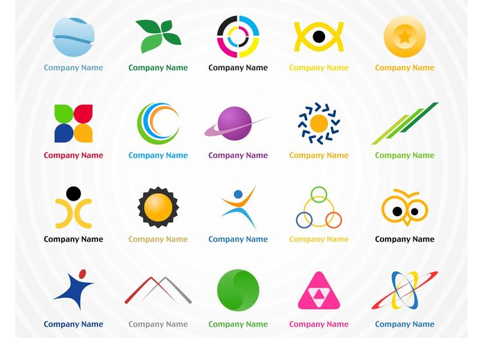 Visual identity vector icons symbols signs marketing logos logo badge emblem corporate business branding