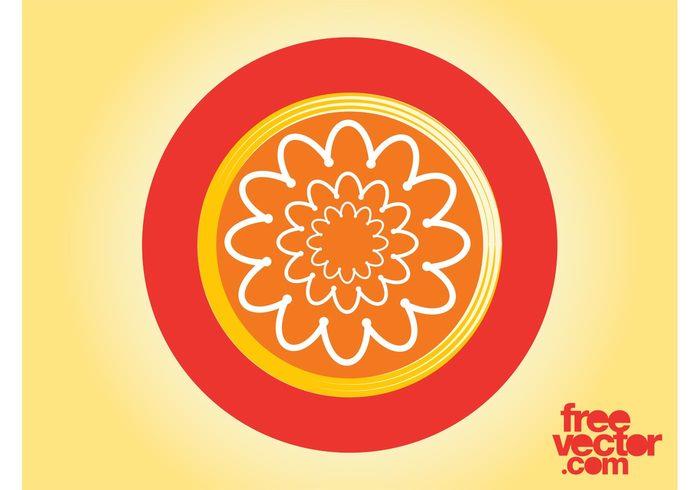 template round plant logo icon flower floral circle branding Brand identity badge