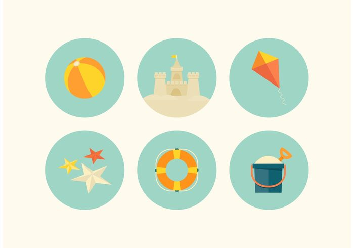 vacations travel tourism sun starfish shovel sand fort sand castle sand retro Recreation play pail leisure kite icons fun fort enjoyment childhood castle beach ball beach